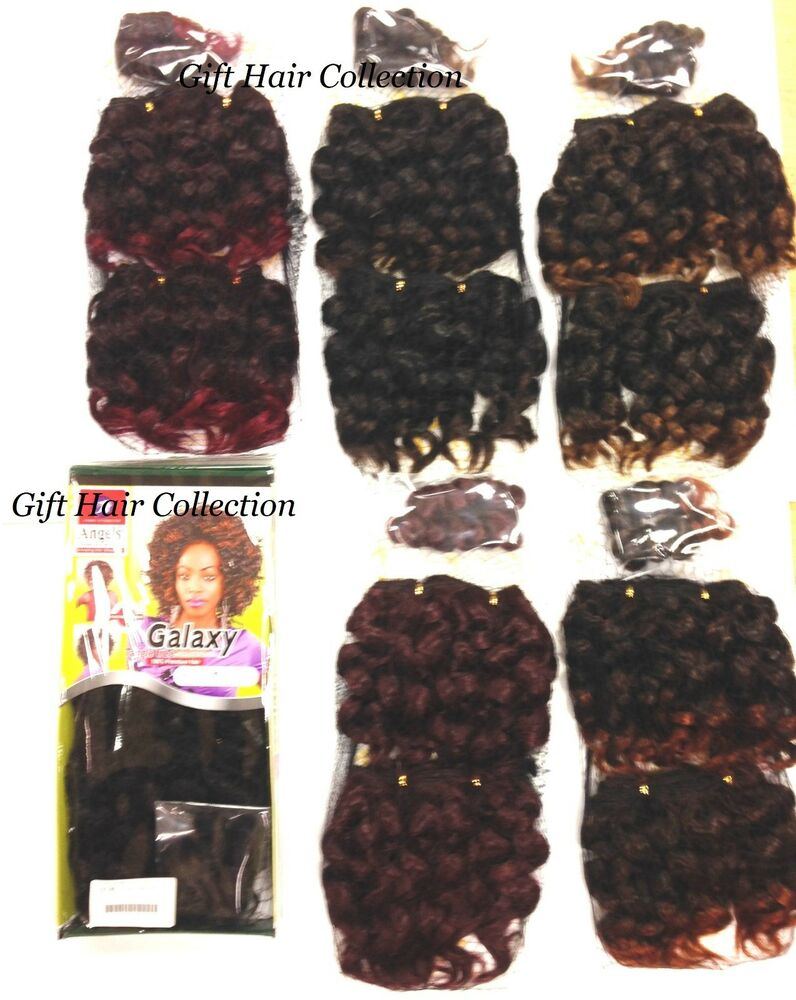Angels Galaxy Curly Weave Set Of 3pcs Synthetic Hair Weave Feels