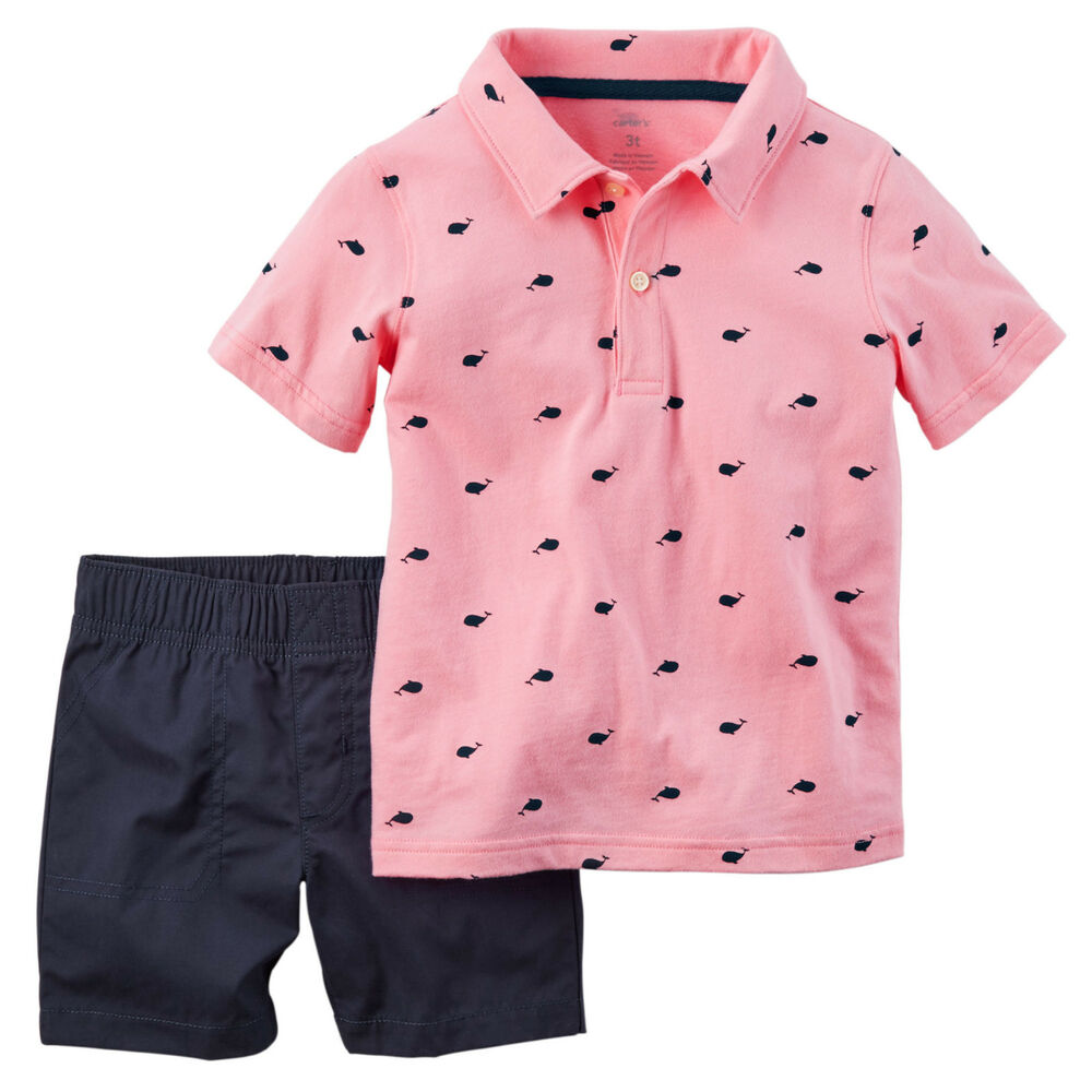 Carters 3 18 Months Polo Shirt & Shorts Set Baby Boy ...