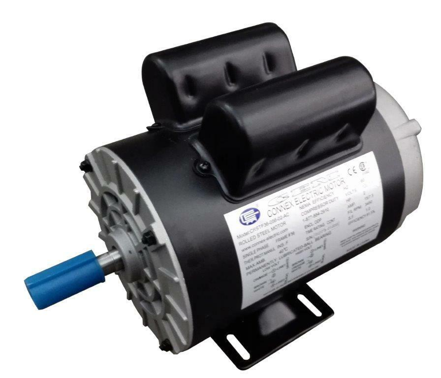 Cem compressor duty ac motor 3hp 3600rpm 56 frame for Compressor duty electric motors