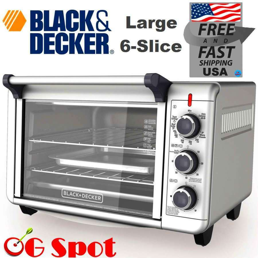 Slice Toaster Oven With Spots ~ Black decker large slice convection kitchen countertop