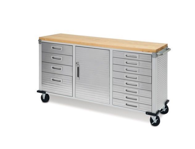 Seville classics rolling toolbox cabinet drawer steel
