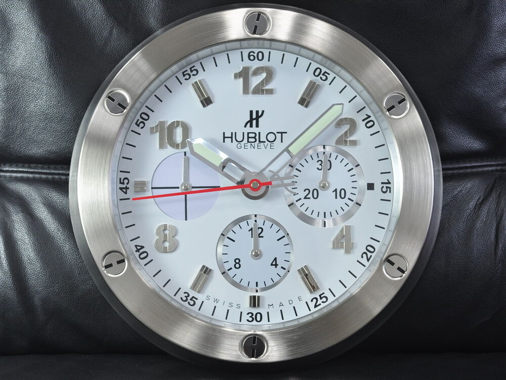 Hublot home decor 34cm display white wall clock ebay for Hublot decoration