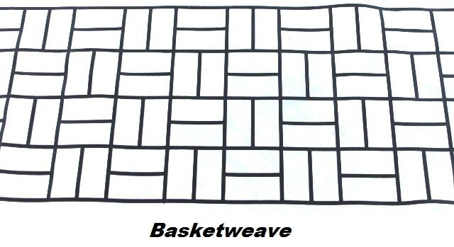 100 sqft basketweave brick concrete driveway stencils for for Retino pietra dwg