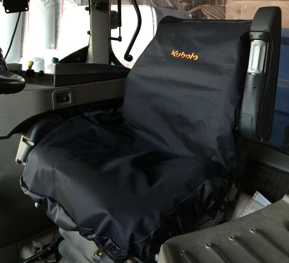 Tractor Seat And Seat Covers : Embroidered with kubota logo heavy duty waterproof tractor