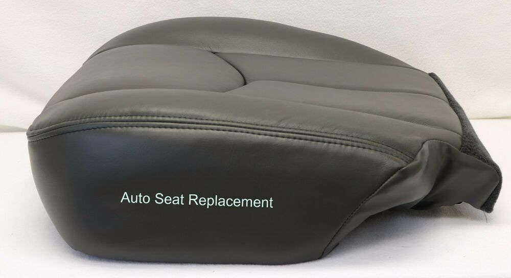 2003 2004 2005 2006 chevy silverado duramax bottom leather seat cover dark gray ebay. Black Bedroom Furniture Sets. Home Design Ideas