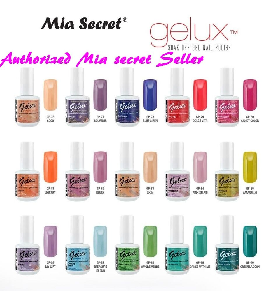 Mia Secret Gelux Nail Polish 0.5 Oz UV GEL-SOAK OFF GEL