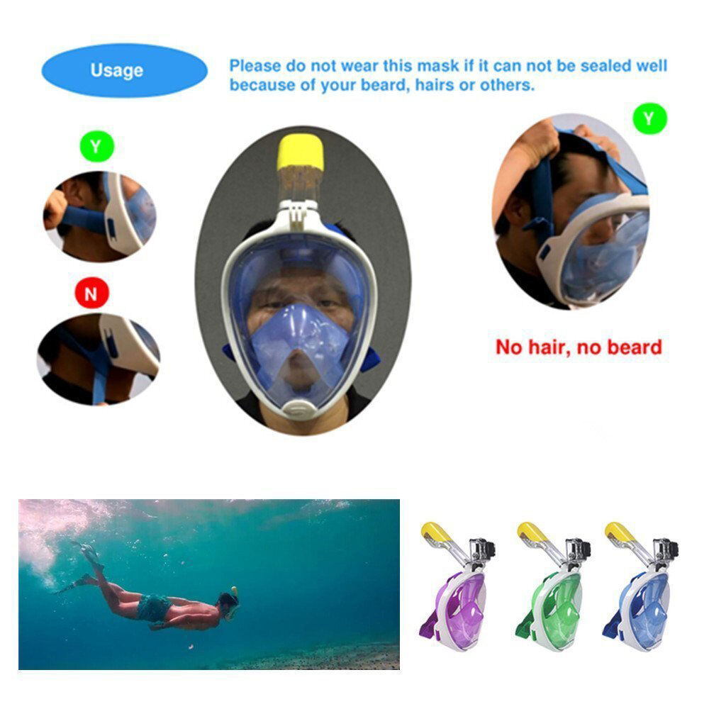Swim Goggles Under Eye Circles: New Full Face Scuba Diving Mask Snorkel Swimming Goggles
