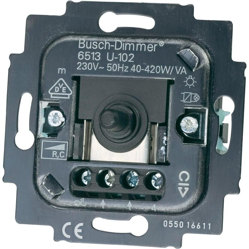 busch jaeger dimmer 6513 u 102 auch led geeignet ebay. Black Bedroom Furniture Sets. Home Design Ideas