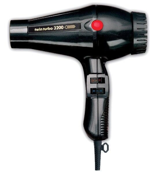 turbo power twin turbo 3200 hair dryer black ebay. Black Bedroom Furniture Sets. Home Design Ideas