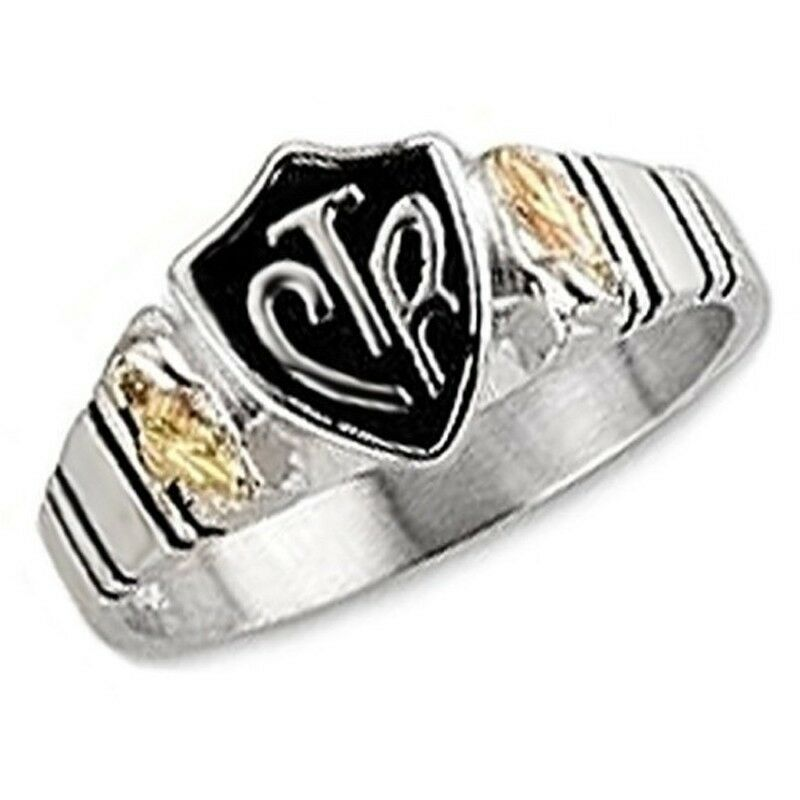 Black Hills Gold On Sterling Silver CTR Mens Ring Size 9