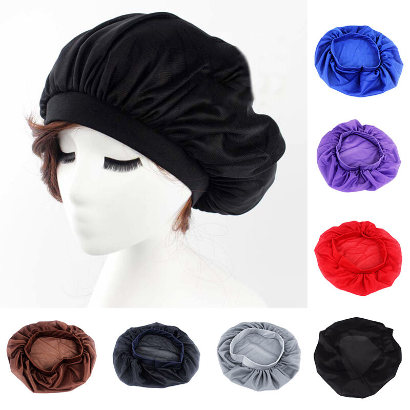 Night Sleep Hat Long Hair Care Chemo Cap Satin Bonnet Cap