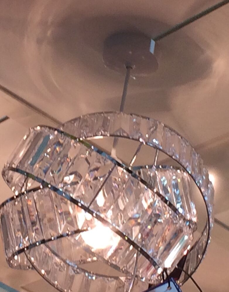 Vintage Art Deco Style Twisted Crystal Chrome Effect Light