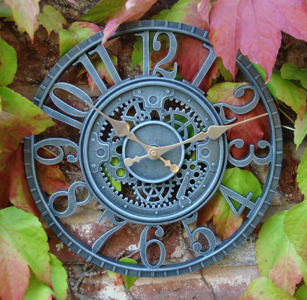 Outdoor indoor Garden Wall Clock Hand Painted church clock ...