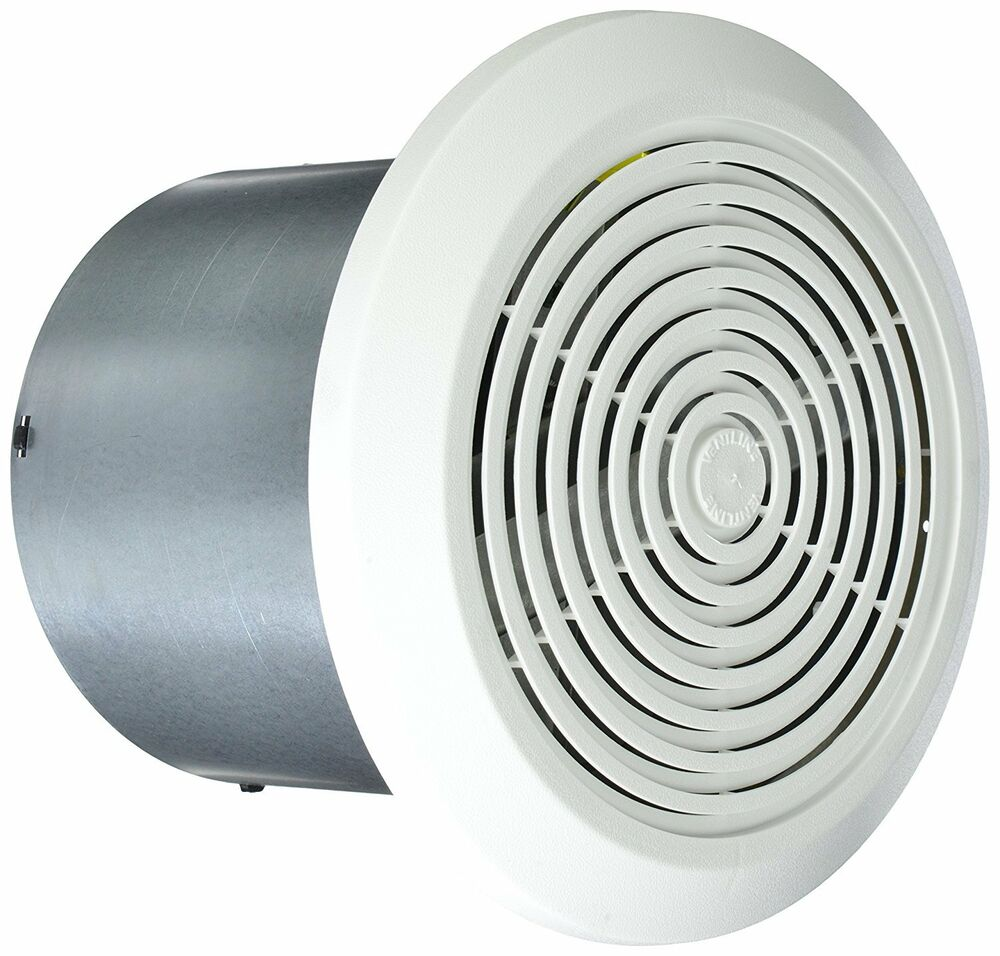 """Bathroom Fan Cover Replacement Parts: Mobile Home Ventline Bath Exhaust Fan- 7"""" Round W/ White"""