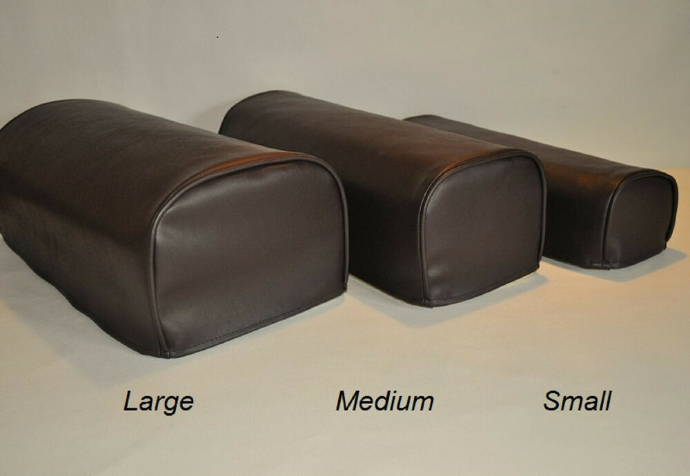 brown pair of faux leather antimacassar chair sofa arm cap