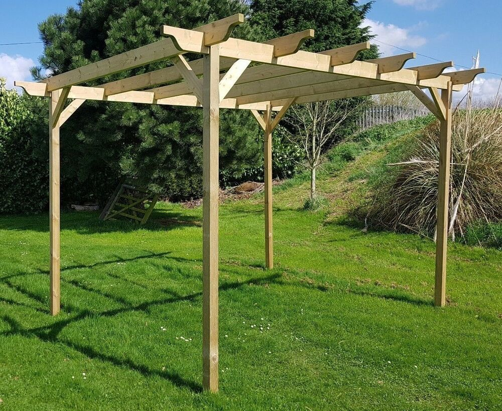 wooden garden structure pergola various size ebay. Black Bedroom Furniture Sets. Home Design Ideas
