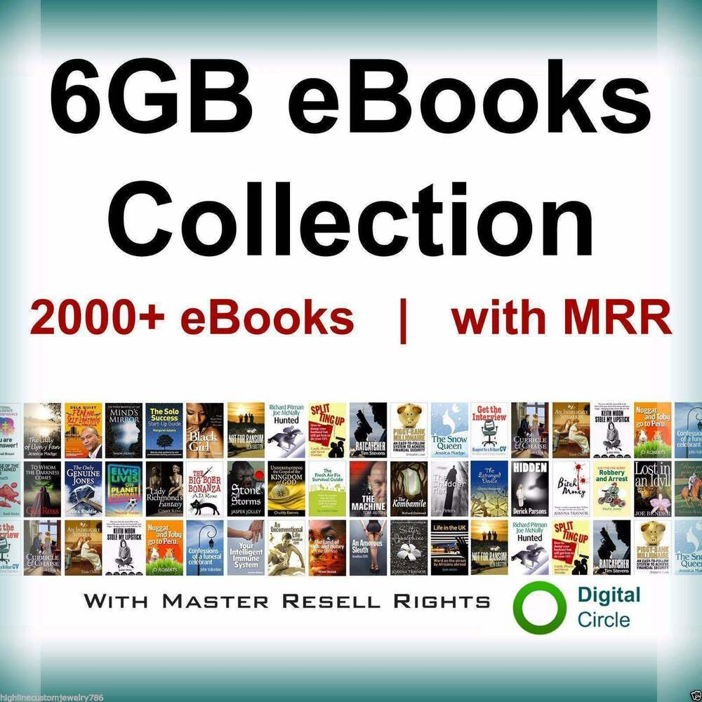 2,000 Ebooks Collection With Resell Rights Plr Free Shipping Plus Bonus  Usa  Ebay