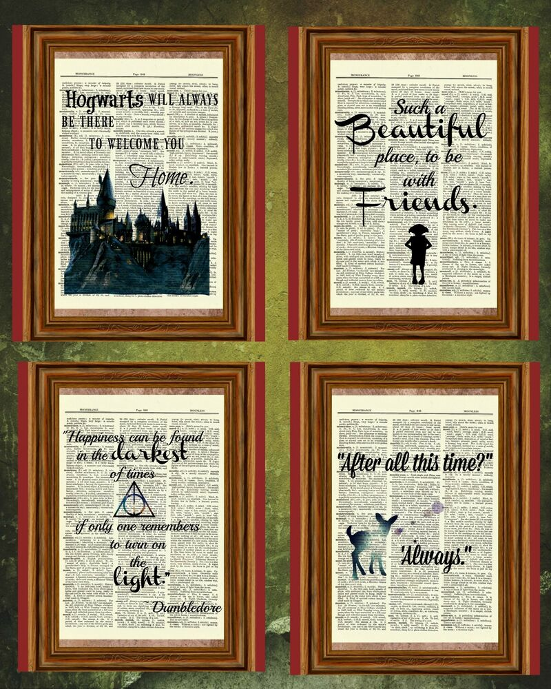 Harry Potter Quote Collection Dictionary Art Print Picture