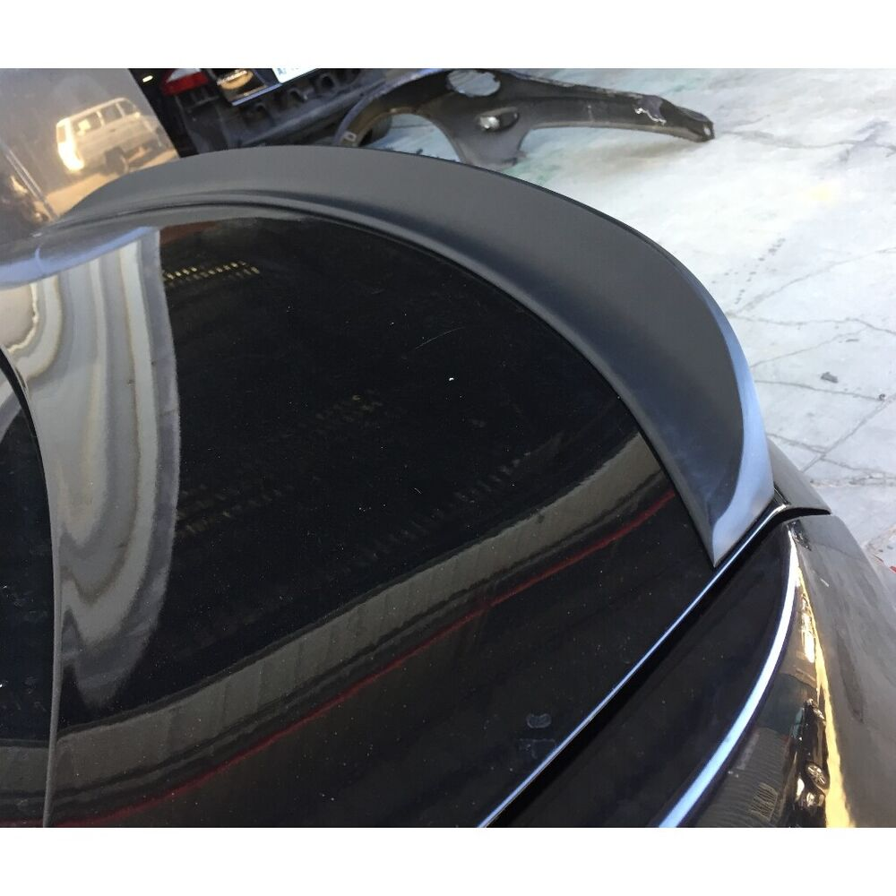 Flat Black P Style Rear Trunk Lip Spoiler Wing For Acura