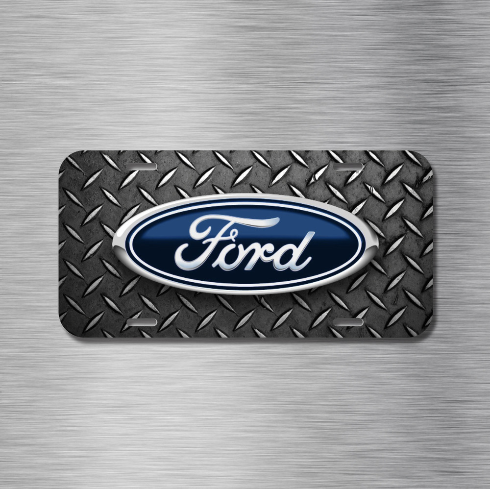 Ford Vehicle License Plate Front Auto Tag NEW Diamond