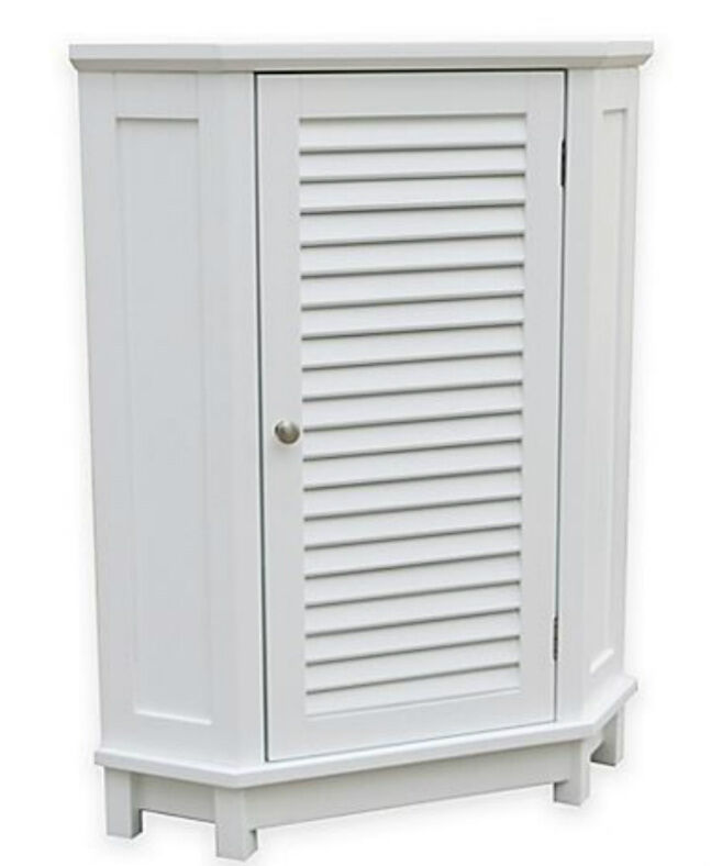 Corner cabinet bathroom floor white summit space saver - Space saver furniture for bathroom ...