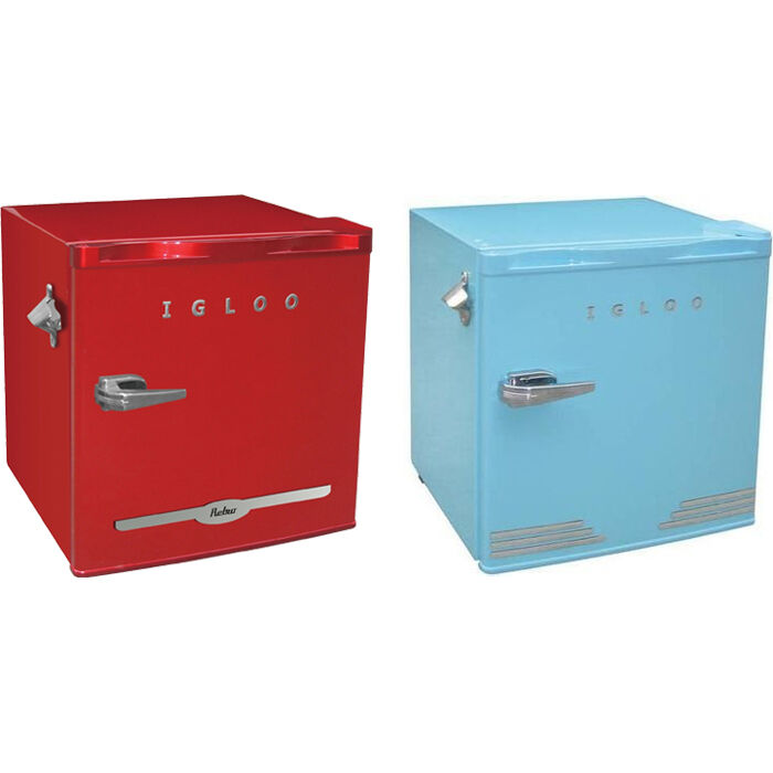 Igloo 1 6 Cu Ft Retro Compact Refrigerator W Side Bottle