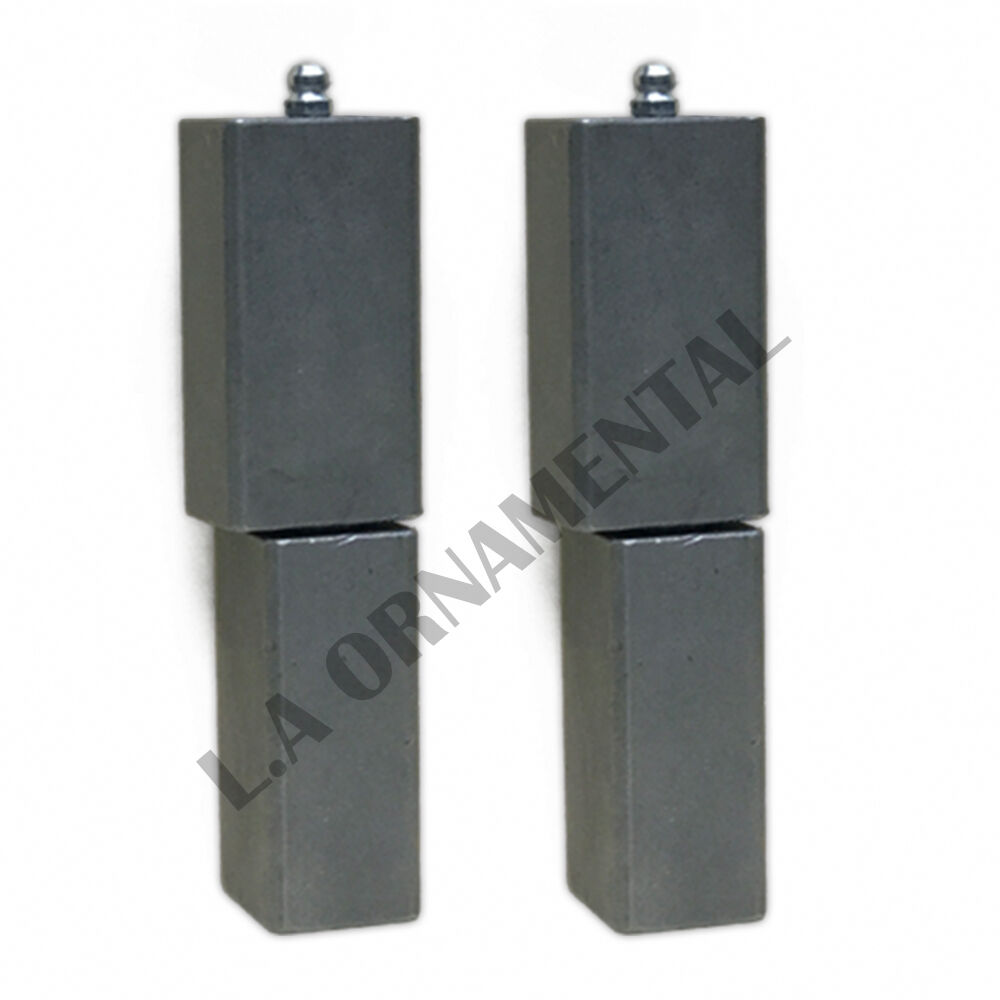 5 steel heavy duty barrel weld square driveway gate hinge for Driveway gate hardware heavy duty