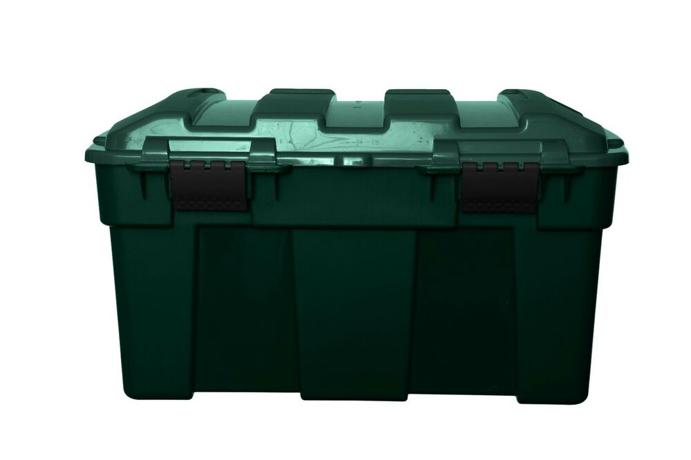 Small Green Garden Chest Trunk Storage Box Tool Box With