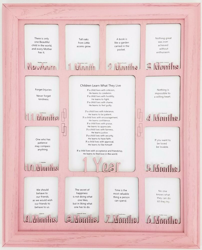 Babys 1st Year Picture Frame Personalized With Any Name Custom