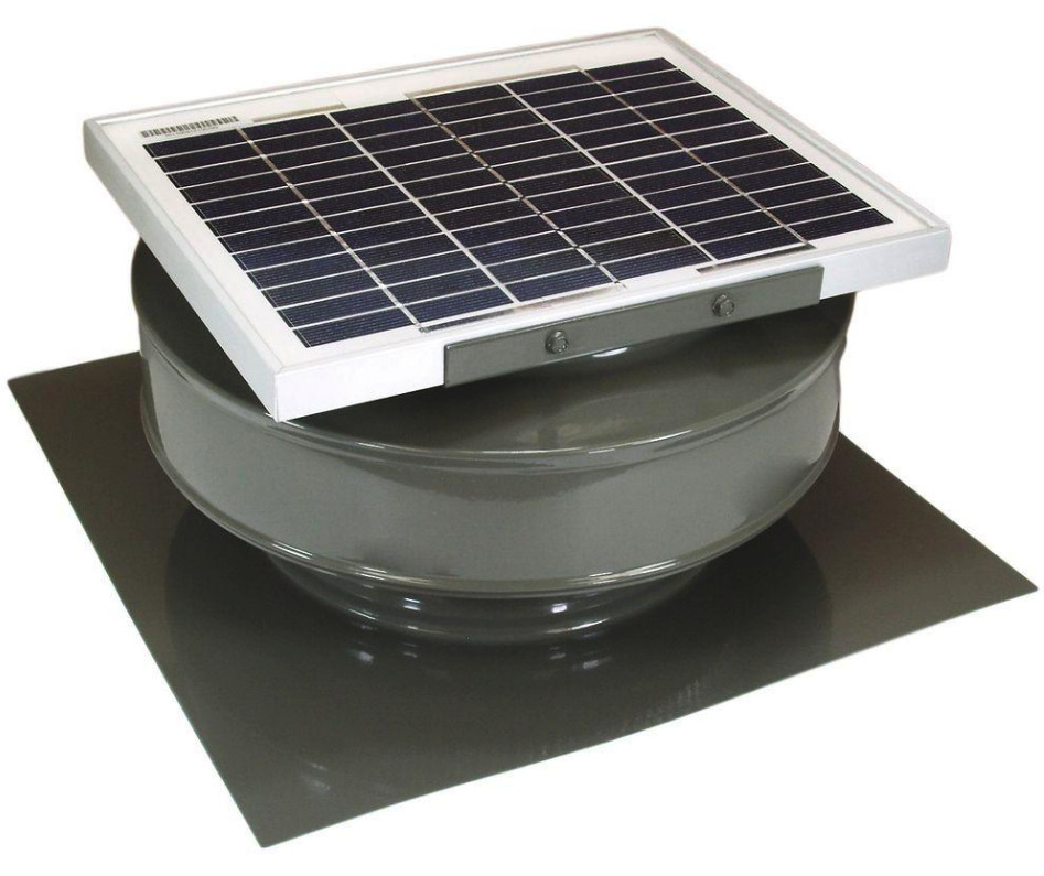 Attic solar powered roof exhaust fan vent panel durable - Solar powered extractor fan bathroom ...
