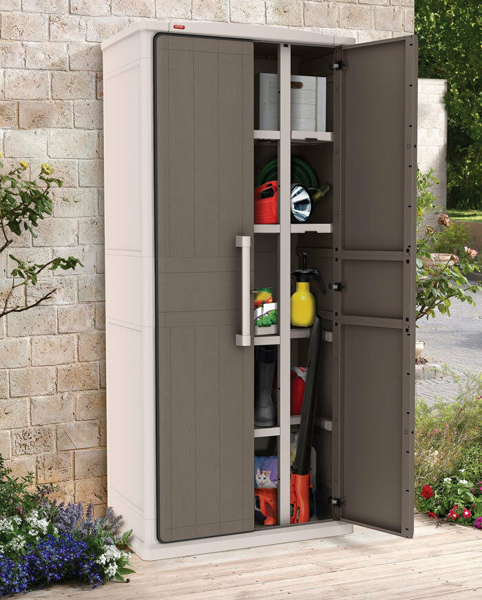 Keter Optima Wonder Outdoor Storage Cabinet Cupboard 1 8m