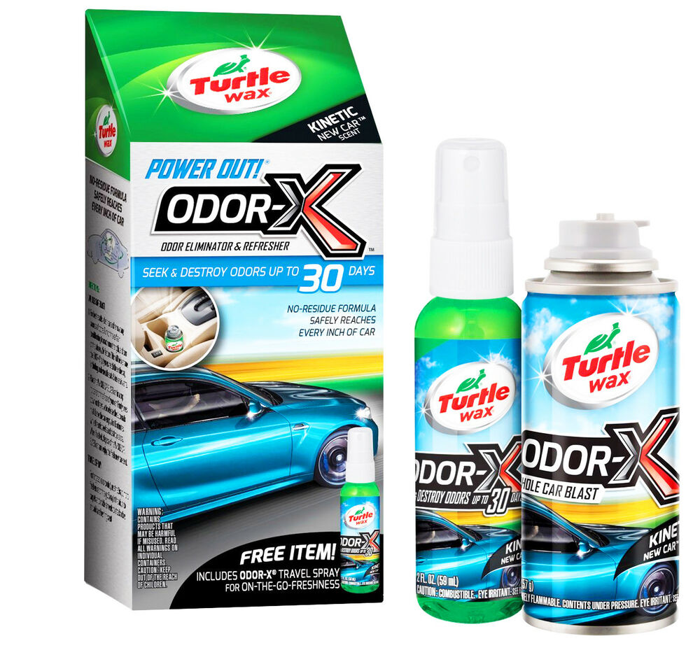 turtle wax power out odor eliminator refresher kit whole new car scent blast 841710106374 ebay. Black Bedroom Furniture Sets. Home Design Ideas