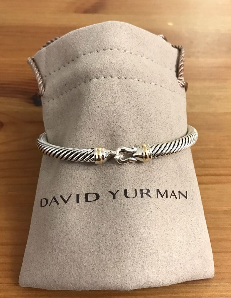 David Yurman Cable Buckle Bracelet With Gold 5mm 925