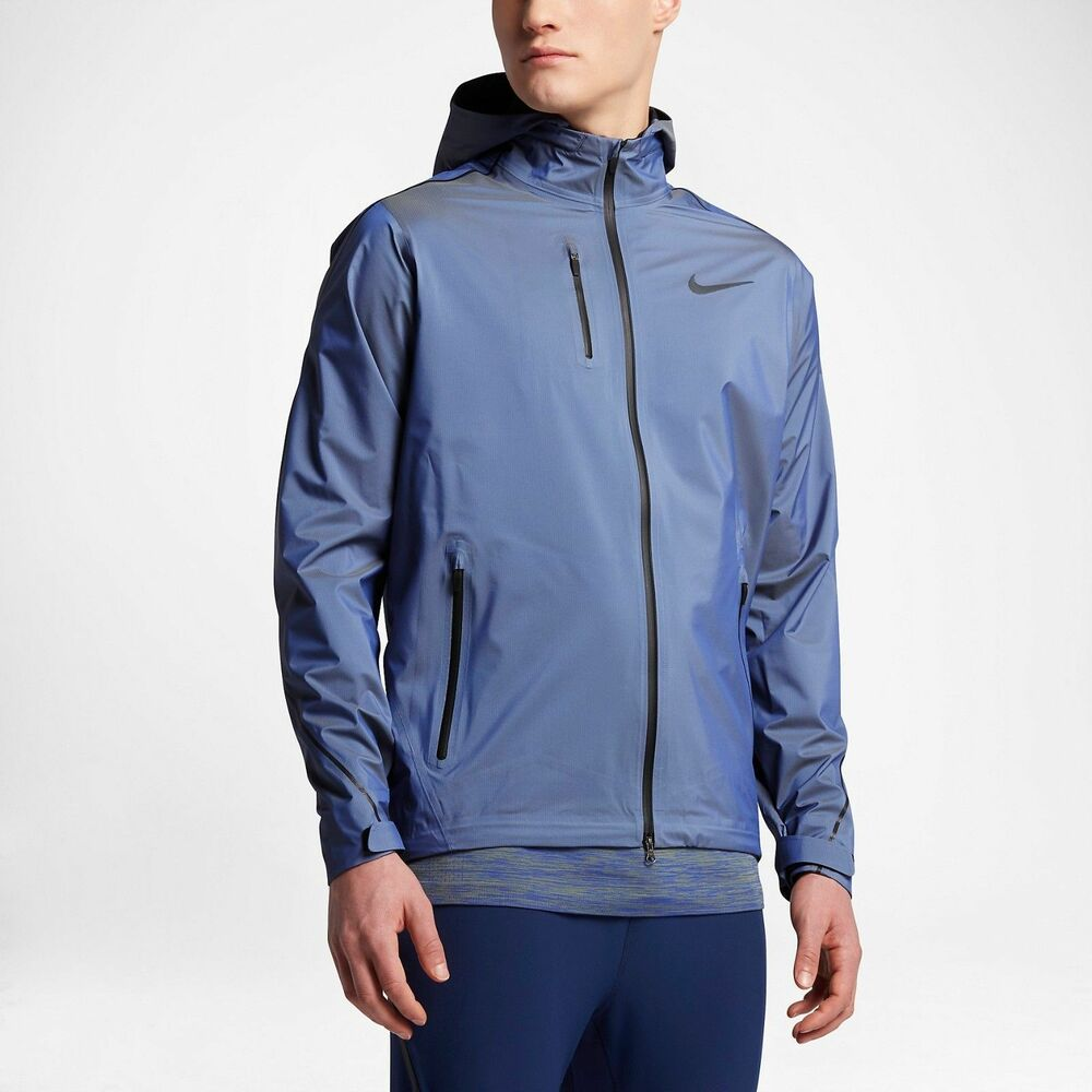 f0f2300c Details about Nike Hypershield Running Jacket Paramount Blue 800901-453 Dri  Fit Aeroloft Flash