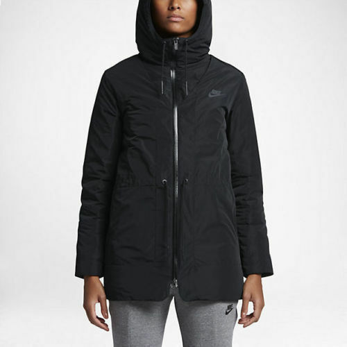 Details about Women s Nike Down Fill Hooded Parka Jacket Black 805080-010  NSW Aeroloft Tech 3M 101c9f5d2