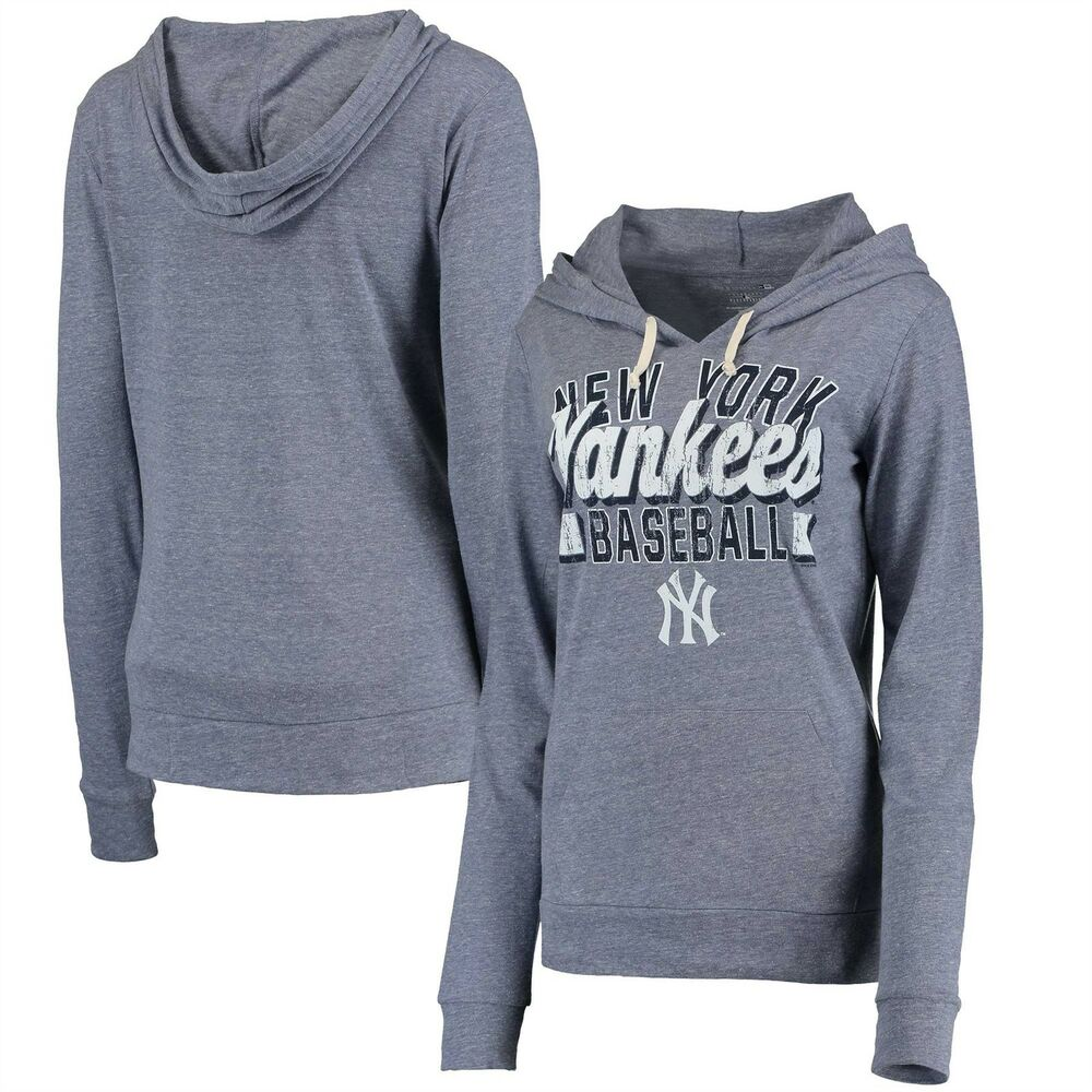 Details about New York yankees Long Sleeve Shirt Women s Pullover Hoodie by  5th   Ocean Navy c9718c5051c