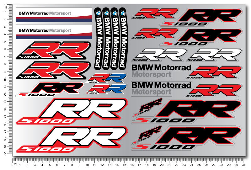 s1000rr motorcycle quality stickers decals set bmw s1000 rr motorrad hp4 racing ebay. Black Bedroom Furniture Sets. Home Design Ideas