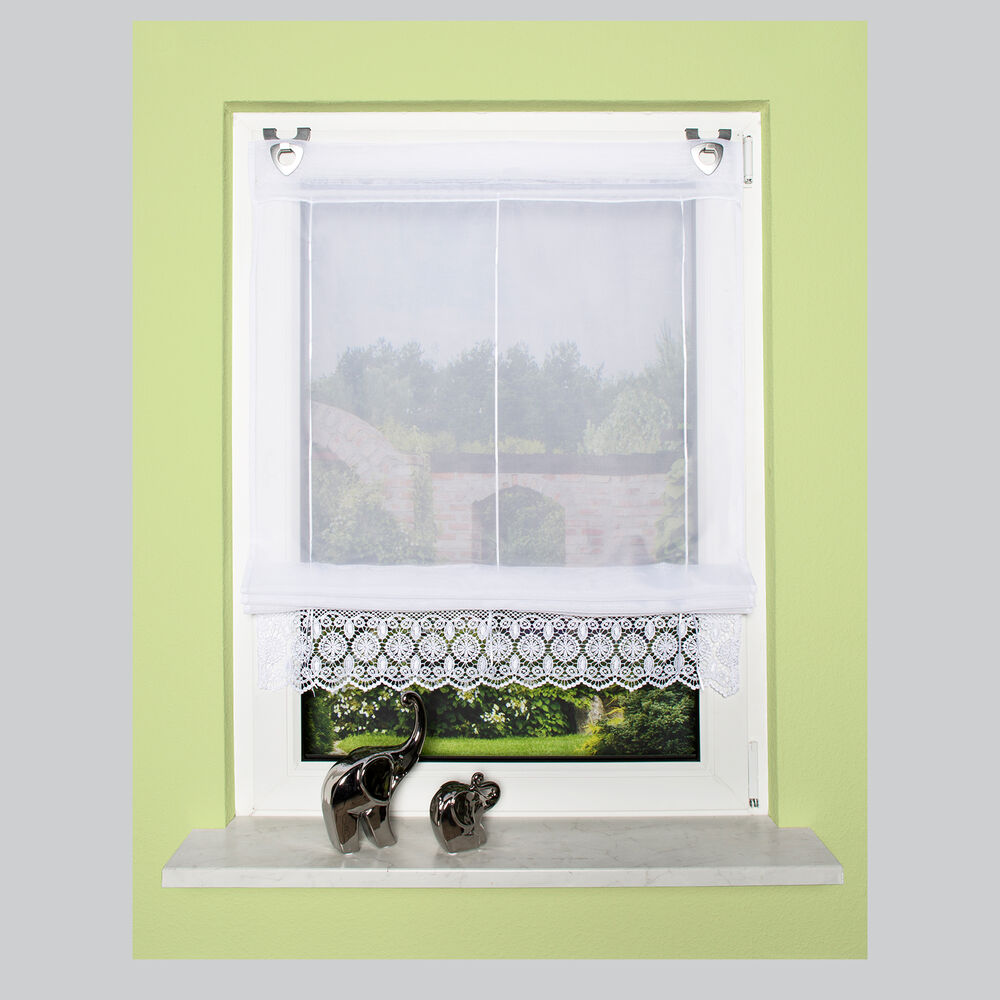 Lace Embroidery Roller blinds Outdoor EasyFix Home ...