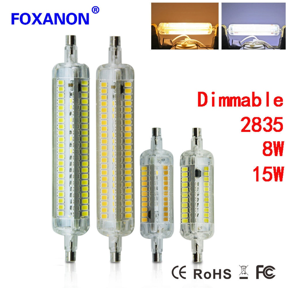 Dimmable r7s 8w 15w 78mm 118mm 2835 smd led flood light for Lampadina r7s led 78mm