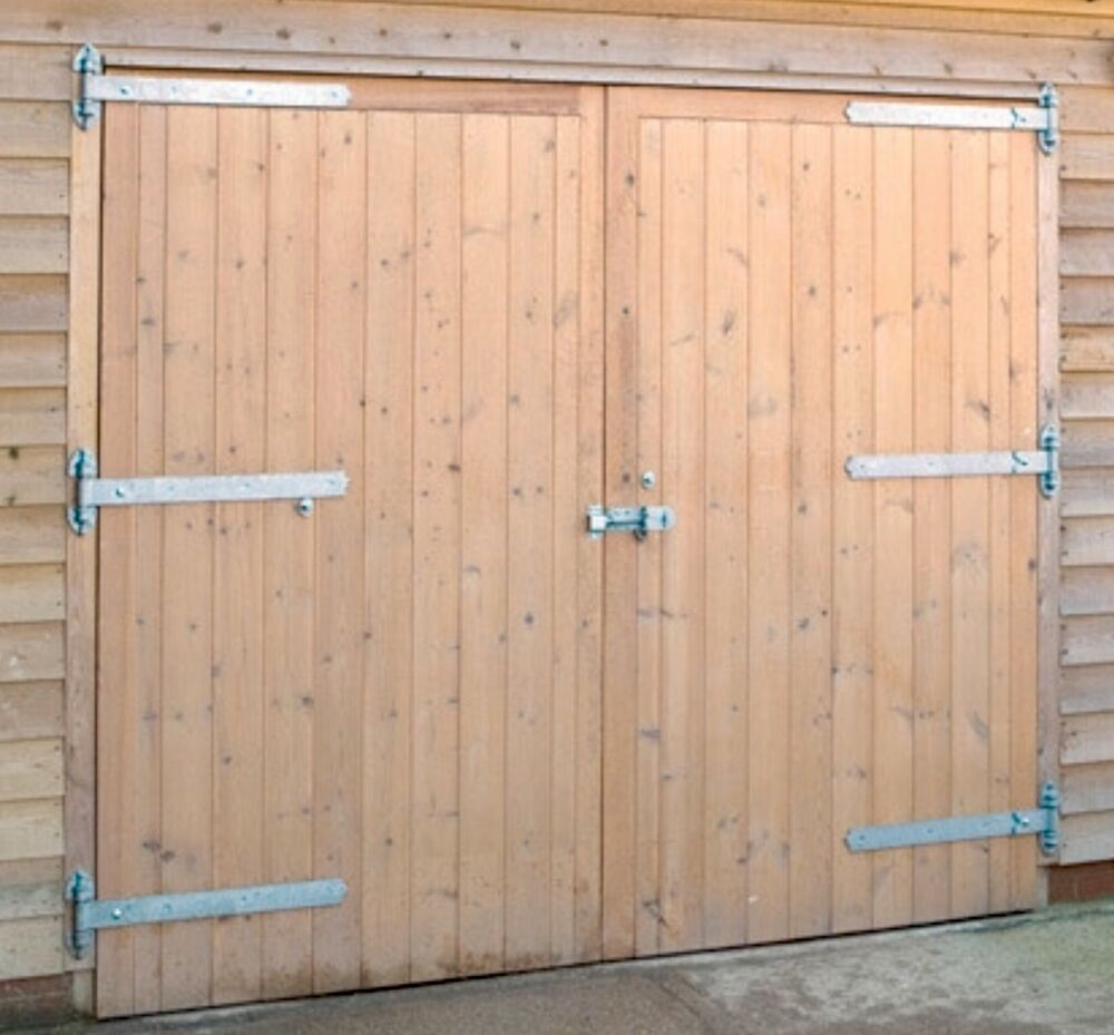 High quality wooden garage doors standard size 7x7ft ebay for Quality doors