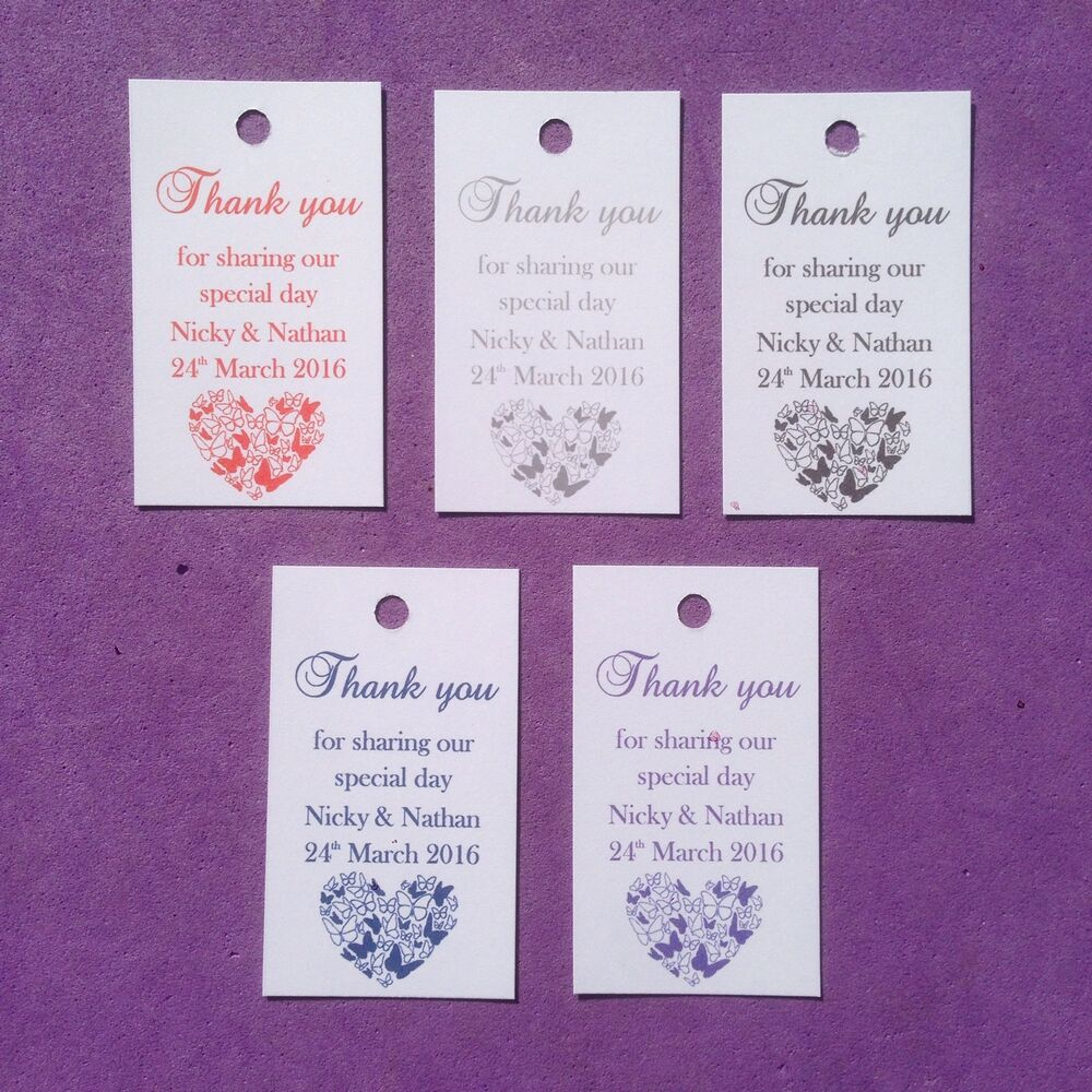Personalised Wedding Thank you Favour Tags, Christening, Hen, Gift ...