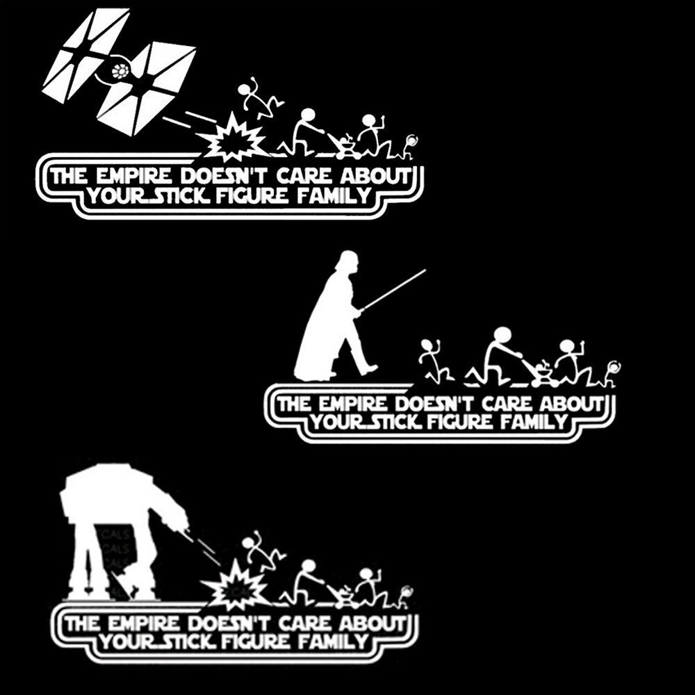 Details about car empire stick figure 2 star wars vinyl decal sticker funny car auto window