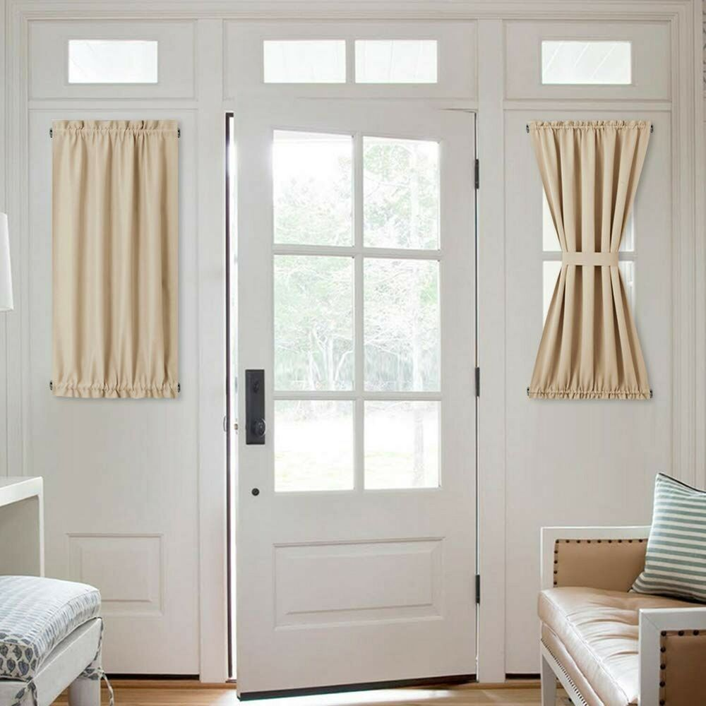 Side Lights Front Door Curtain Entry Way Decor Room
