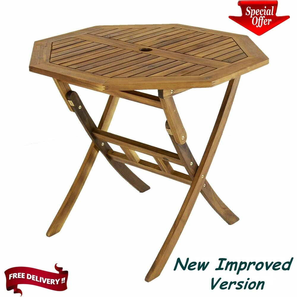 Hardwood Round Octagon Garden Dining Table Outdoor Wooden Table For 4 EBay