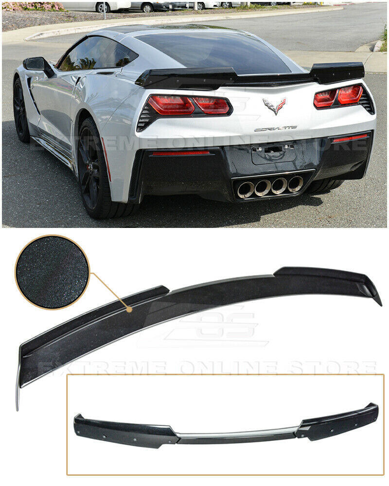 Z06 Z07 Stage 2 Style Carbon Flash Painted Rear Spoiler