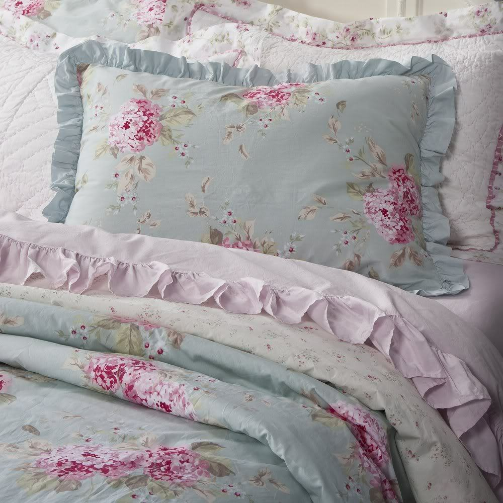 simply shabby chic belle hydrangea rose twin duvet set new. Black Bedroom Furniture Sets. Home Design Ideas