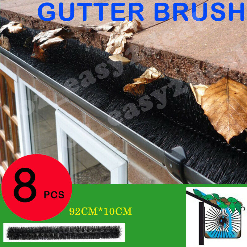 100mm X 8m Hedgehog Gutter Guard Brush Leaf Twigs Au Stock