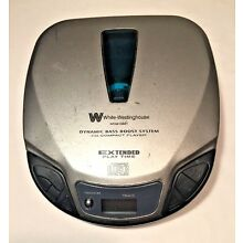 Vtg White Westinghouse Portable CD Player Extended  Play Bass Boost Tested Works
