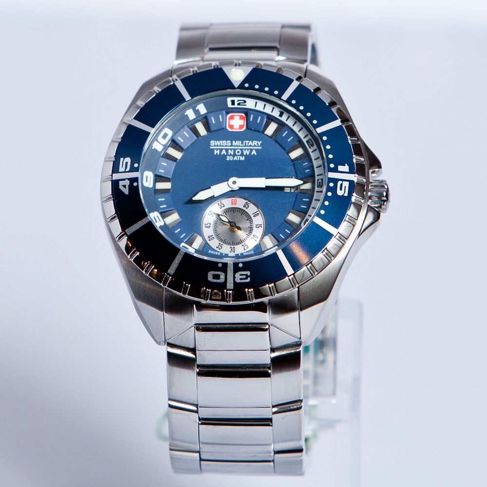 Swiss Military Hanowa Men's 'Sealander' Blue Dial Divers