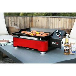 Royal Gourmet 18'' Portable BBQ Table Top Propane Gas Grill Griddle Red PD1202R